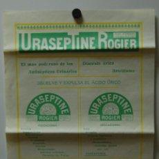 Libros antiguos: PROSPECTO URASEPTINE ROGER FARMACIA MEDICINA 1910. Lote 41505177