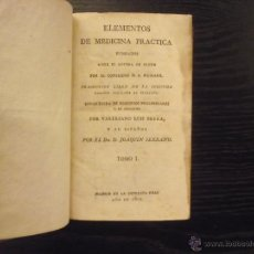 Libros antiguos: ELEMENTOS DE MEDICINA PRACTICA, MELCHOR ADAM WEIKARD. Lote 41507091