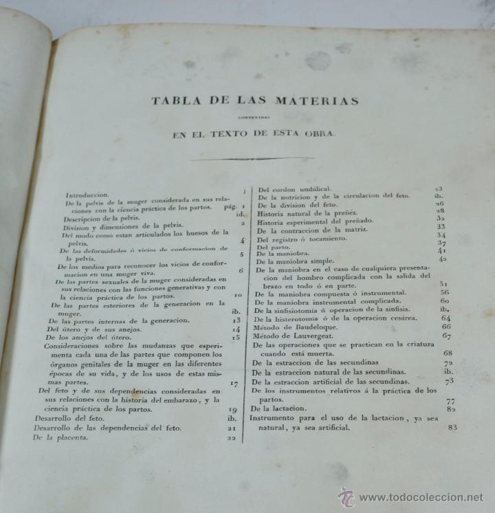 Libros antiguos: Nuevas demostraciones de los partos, con 80 estampas, J.L. Maygrier. París, Méjico, 1828. 27x41 cm. - Foto 3 - 41586318