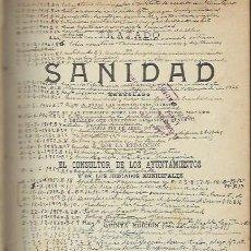 Libros antiguos: TRATADO DE SANIDAD, EL CONSULTOR DE LOS AYUNTAMIENTOS, MADRID 1930, 734 PÁGS, 15X21CM. Lote 56557138
