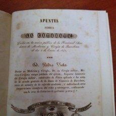 Libros antiguos: DR. PEDRO VIETA. APUNTES ACERCA LA CATARATA. 1842. Lote 42361378