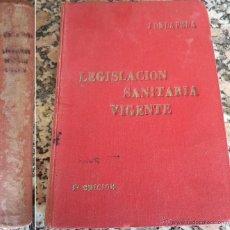 Libros antiguos: 1926 LEGISLACIÓN SANITARIA VIGENTE J. DE LA PEÑA TIPOGRAFÍA SENEN MARTÍN AVILA 2ª EDICIÓN . Lote 42426483