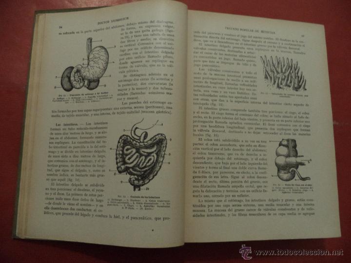 Libros antiguos: TRATADO POPULAR DE MEDICINA. ANATOMÍA - FISIOLOGÍA - HIGIENE - TERAPÉUTICA. Dr. SAIMBRAUM. - Foto 5 - 42493535