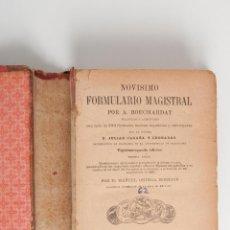 Libros antiguos: NOVISIMO FORMULARIO MAGISTRAL, AÑO 1892. Lote 42772611