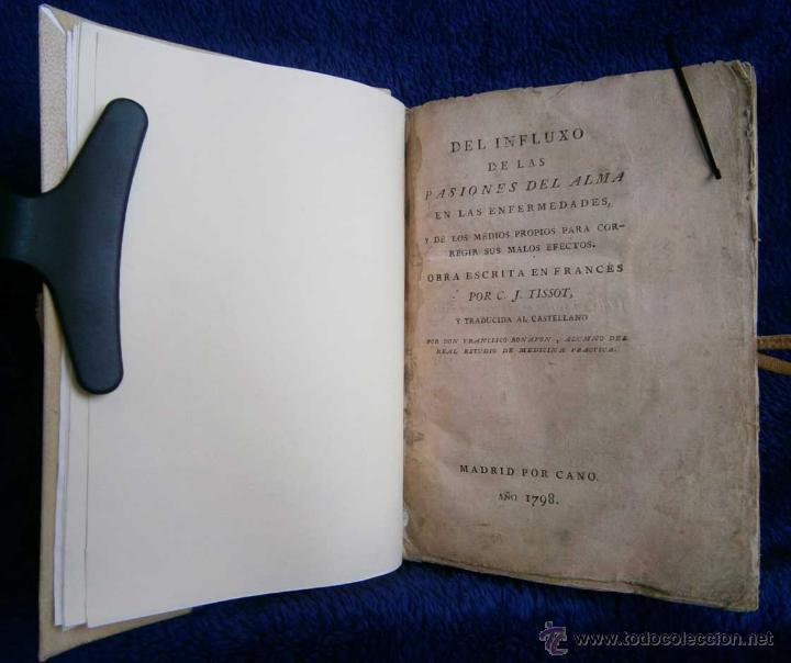 Libros antiguos: 1798: Del influxo de las pasiones del alma - Foto 3 - 43086905