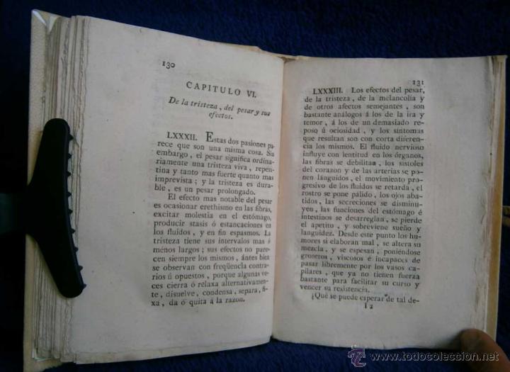 Libros antiguos: 1798: Del influxo de las pasiones del alma - Foto 4 - 43086905