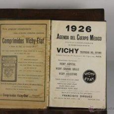 Libros antiguos: D-431. AGENDA DEL CUERPO MEDICO VICHY. 1926. MANUSCRITO. . Lote 43137011