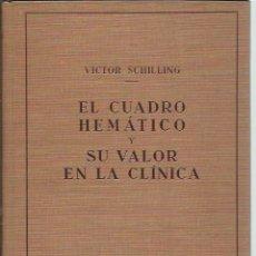 Libros antiguos: EL CUADRO HEMÁTICO Y SU VALOR EN LA CLÍNICA, VICTOR SCHILLING, LABOR BARCELONA 1931. Lote 43500549