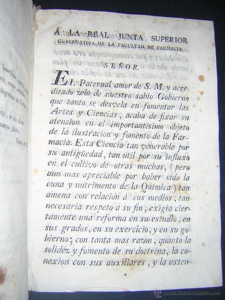 Libros antiguos: 1805 - FRANCISCO CARBONELL - ELEMENTOS DE FARMACIA FUNDADOS EN LA QUIMICA MODERNA - Foto 3 - 43908285