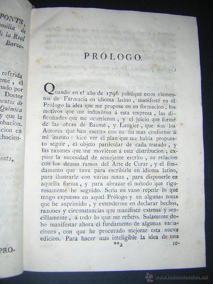 Libros antiguos: 1805 - FRANCISCO CARBONELL - ELEMENTOS DE FARMACIA FUNDADOS EN LA QUIMICA MODERNA - Foto 4 - 43908285