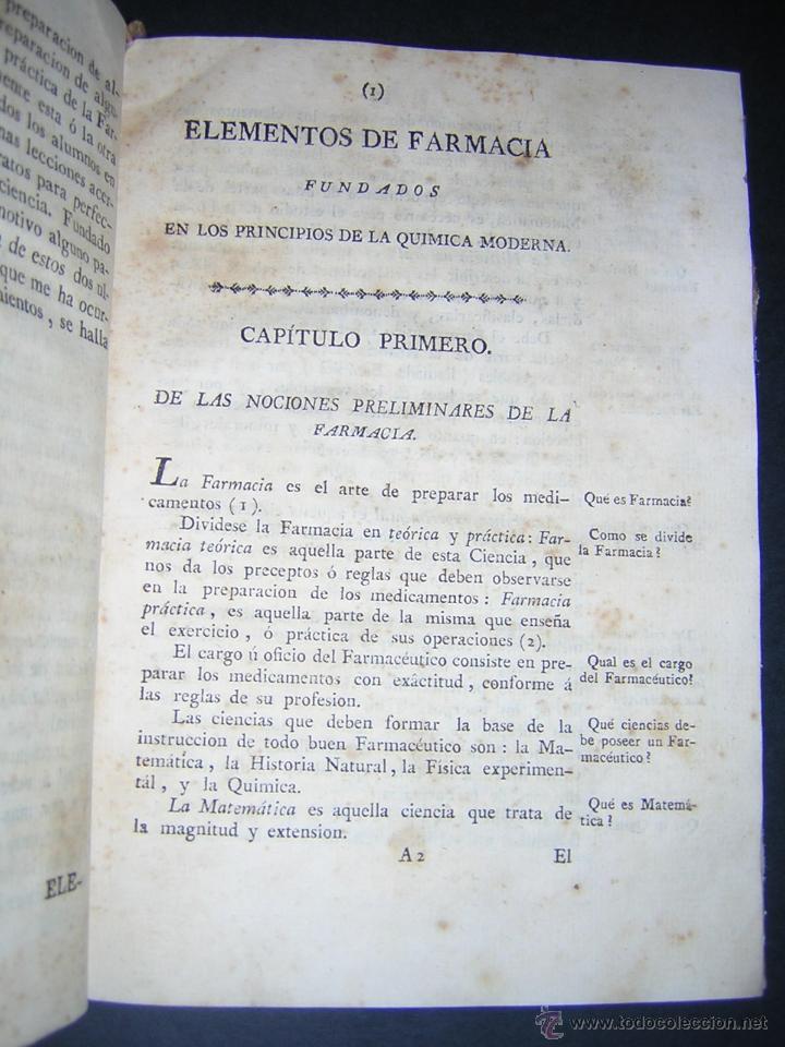 Libros antiguos: 1805 - FRANCISCO CARBONELL - ELEMENTOS DE FARMACIA FUNDADOS EN LA QUIMICA MODERNA - Foto 5 - 43908285