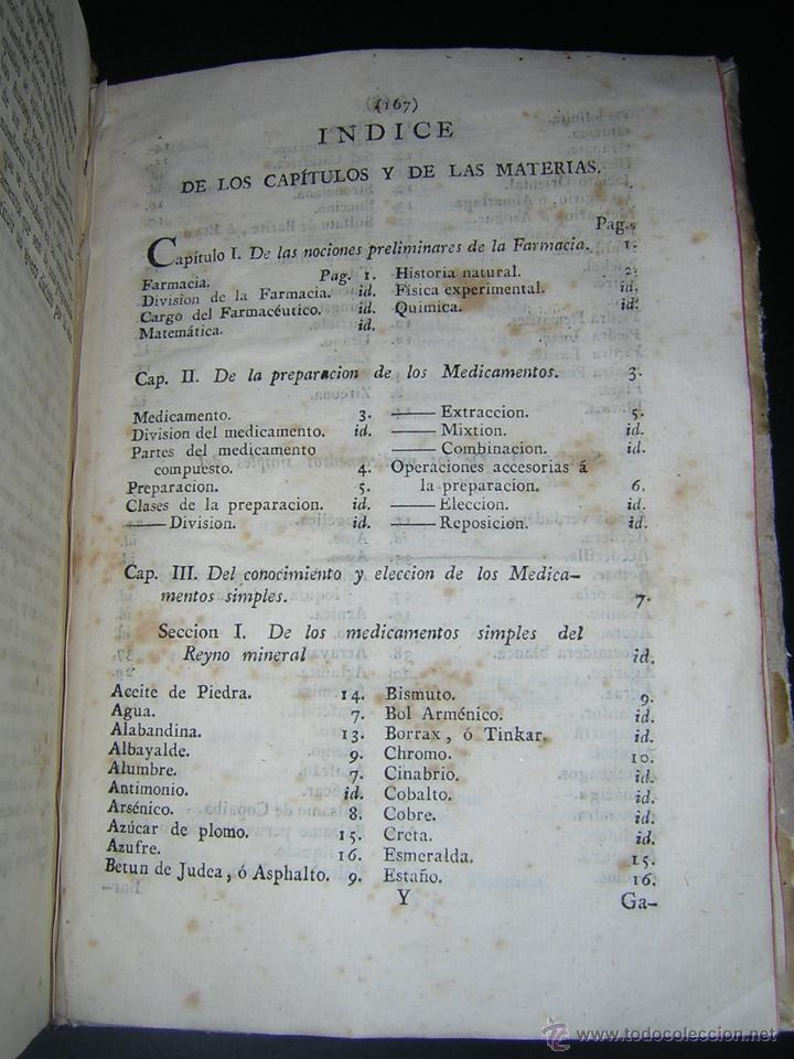 Libros antiguos: 1805 - FRANCISCO CARBONELL - ELEMENTOS DE FARMACIA FUNDADOS EN LA QUIMICA MODERNA - Foto 7 - 43908285