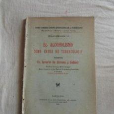 Libros antiguos: EL ALCOHOLISMO COMO CAUSA DE TUBERCULOSIS. Lote 43941313