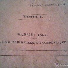 Libros antiguos: MANUAL DE MEDICINA OPERATORIA J F MALGAIGNE TEXTO 359 PAGINAS TOMO 1 MADRID 1867 LIBRERIA PABLO C. Lote 44069221