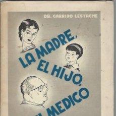 Libros antiguos: LA MADRE, EL HIJO, EL MÉDICO, GARRIDO LESTACHE, LA EDITORIAL CATÓLICA MADRID, ILUSTRA ANTONIO COBOS. Lote 44238539
