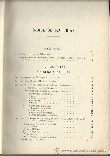 Libros antiguos: TRATADO DE FISIOLOGÍA, GLEY, FALTA LA PRIMERA PÁGINA DE PORTADA, FISIOLOGÍA CELULAR Y ESPECIAL - Foto 2 - 44246332
