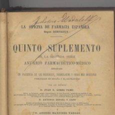 Libros antiguos: LA OFICINA DE LA FARMACIA ESPAÑOLA-ANUARIO FARMACEUTICO-1885. Lote 44824078