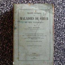 Libros antiguos: 1893. TRAITÉ CLINIQUE DES MALADIES DU COEUR ET DES VAISSEAUX, PAR HENRI HUCHARD. Lote 44853058