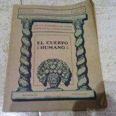 Libros antiguos: EL CUERPO HUMANO GRÁFICAS SEIX 1936. Lote 45125795