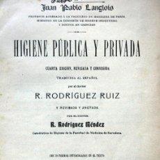 Libros antiguos: HIGIENE PUBLICA Y PRIVADA - 1912 - ILUSTRADO - INMUNDICIAS -ALIMENTOS - MUY INTERESANTE. Lote 45267303