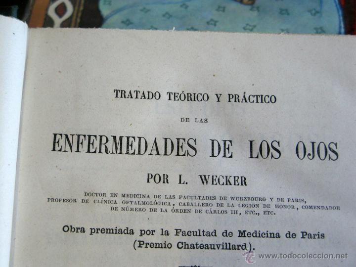Libros antiguos: TRATADO PRACTICO ENFERMEDADES DE LOS OJOS 1871 - Foto 2 - 45967113