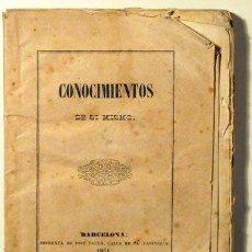 Libros antiguos: BONET I PEDRÓS, ANTONIO - CONOCIMIENTOS DE SI MISMO - BARCELONA 1851. Lote 46326321