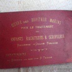 Libros antiguos: OEUBRE DES HOPITAUX MARINS POUR LE TRAITEMENT DES ENFANTS RACHITIQUES ET SCROFULEUX. Lote 46782109