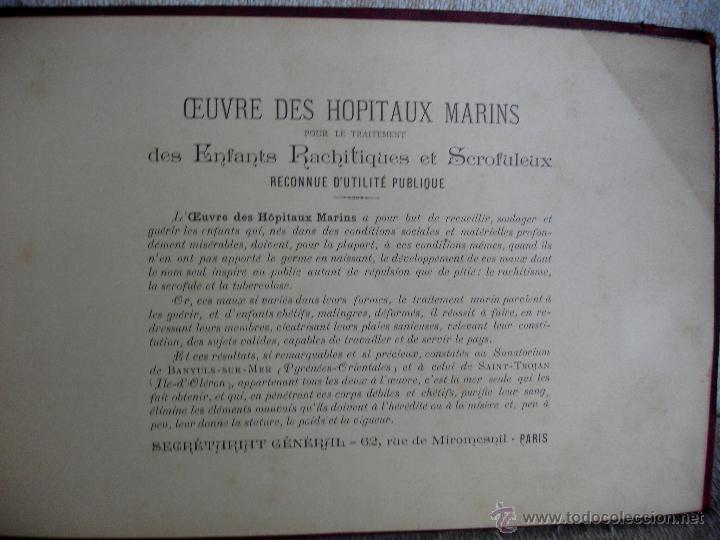 Libros antiguos: Oeubre des hopitaux Marins pour le traitement des enfants Rachitiques et scrofuleux - Foto 2 - 46782109