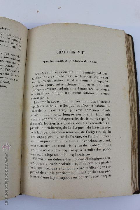 Libros antiguos: L- 1221. THÉRAPEUTIQUE DES MALADIES DU FOIE. PAR LE DR. L. GALLIARD. OCTAVE DOIN, ÉDITEUR. AÑO 1894. - Foto 7 - 46918214