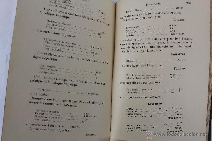 Libros antiguos: L- 1221. THÉRAPEUTIQUE DES MALADIES DU FOIE. PAR LE DR. L. GALLIARD. OCTAVE DOIN, ÉDITEUR. AÑO 1894. - Foto 9 - 46918214