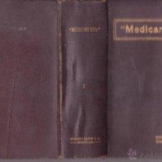 Libros antiguos: MEDICAMENTA 2ª ED 1923 E. SOLER Y BATLLE ED LABOR FARMACEUTICO MEDICO Y VETERINARIA. Lote 47248395