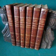 Libros antiguos: PATOLOGIA ESTERNA Y MEDICINA OPERATORIA. VIDAL DE CASSIS. ILUSTRADO. 1870. MADRID. 6 TOMOS. PIEL.. Lote 47681175