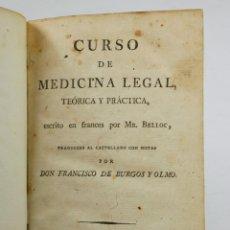 Libros antiguos - CURSO DE MEDICINA LEGAL, MADRID 1819. 11,5X18 CM. - 48125117