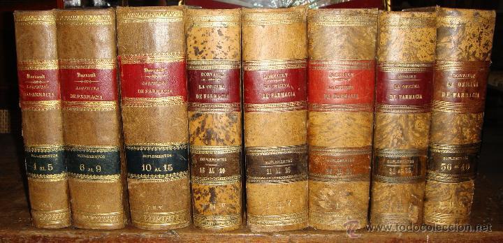 LA OFICINA DE FARMACIA ESPAÑOLA. DORVAULT. 1880. 8 VOLÚMENES. COMPLETA. (Libros Antiguos, Raros y Curiosos - Ciencias, Manuales y Oficios - Medicina, Farmacia y Salud)