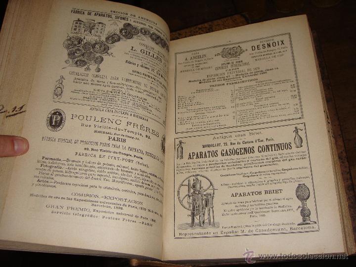 Libros antiguos: La Oficina de Farmacia Española. Dorvault. 1880. 8 Volúmenes. Completa. - Foto 6 - 48513923