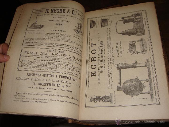 Libros antiguos: La Oficina de Farmacia Española. Dorvault. 1880. 8 Volúmenes. Completa. - Foto 7 - 48513923