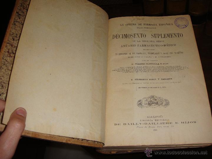 Libros antiguos: La Oficina de Farmacia Española. Dorvault. 1880. 8 Volúmenes. Completa. - Foto 8 - 48513923