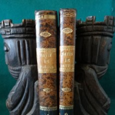 Libros antiguos: CURSO COMPLETO DE PARTOS POR JULIO HATIN . MADRID 1.835 (1ª EDICION) TOMO 1ºY2º. LITOGRAFIAS. Lote 49416557