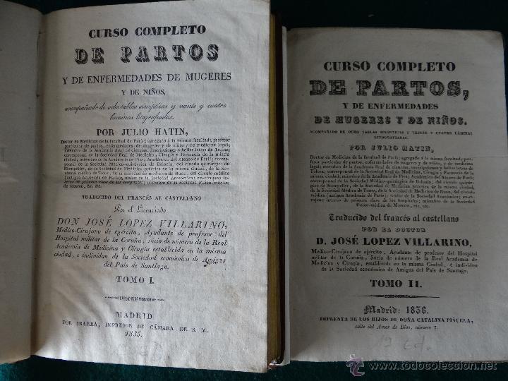 Libros antiguos: CURSO COMPLETO DE PARTOS POR JULIO HATIN . MADRID 1.835 (1ª EDICION) TOMO 1ºy2º. LITOGRAFIAS - Foto 2 - 49416557