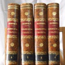 Libros antiguos: PATOLOGÍA INTERNA Y TERAPÉUTICA , POR DR. HERMANN EICHHORST 4 TOMOS , CON GRAVADOS, 1888. Lote 49432585