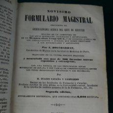 Libros antiguos: NOVISIMO FORMULARIO MAGISTRAL Y ARTE DE RECETAR. BOUCHARDAT. 2ª EDICION 1858. BAILLIERE. MADRID.. Lote 49703935