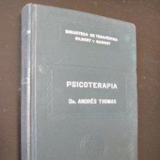 Libros antiguos: BIBLIOTECA DE TERAPÉUTICA GILBERT CARNOT , SALVAT TOMO XIV PSICOTERAPIA. Lote 49898844