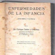 Libros antiguos: ENFERMEDADES DE LA INFANCIA. DR. ENRIQUE SUÑER Y ORDÓÑEZ. TOMO III. CALPE. MADRID 1921. Lote 49907207