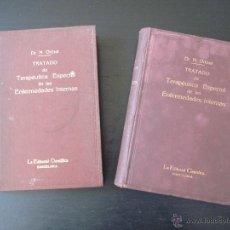 Libros antiguos: TRATADO DE TERAPÉUTICA ESPECIAL DE LAS ENFERMEDADES INTERNAS , N. ORTNER, DOS TOMOS. AÑO 1913. Lote 49911322