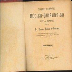 Libros antiguos: TRATADO ELEMENTAL MÉDICO-QUIRÚRGICO DE LA INFANCIA. DR. ARTURO PERALES Y GUTIÉRREZ. Lote 49919244