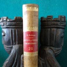 Libros antiguos: ARTE DE HERRAR Y FORJAR. A, THARY. ENCICLOPEDIA VETARINARIA. (C. 1895). Lote 50008941