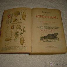 Libros antiguos: ELEMENTOS DE HISTORIA NATURAL , MAS NOCIONES DE HIGIENE PRIVADA Y SOCIAL. Lote 50041312