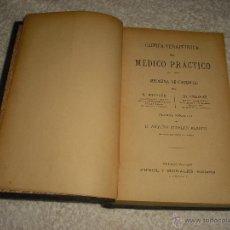 Libros antiguos: CLINICA TERAPEUTICA DEL MEDICO PRACTICO . HUCHARD Y FIESSENGER 1908 . Lote 50108553