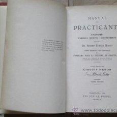 Libros antiguos: MANUAL DEL PRACTICANTE, 2 TOMOS 1 Y 2. ED. PUBUL, 1935. LOMO EN PIEL. 424 Y 684 PAG. VELL I BELL. Lote 50121595