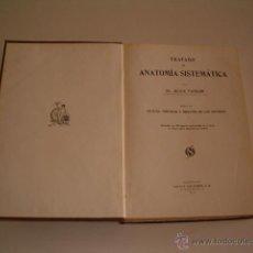Libros antiguos: TRATADO DE ANATOMÍA SISTEMÁTICA. TOMO IV: SISTEMA NERVIOSO Y ÓRGANOS DE LOS SENTIDOS. RM70056. . Lote 50272260
